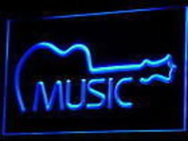 GUITAR MUSIC BEER BAR MANCAVE NEON LIGHT SIGN - $29.99