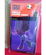 Fashion Holiday Child Accessory Medium Purple Stripe Tights Halloween Co... - $4.74