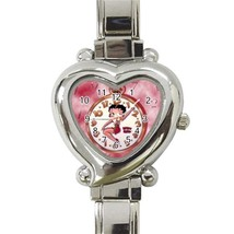NEW Betty Boop Custom Heart Italian Charm Watch - $15.00