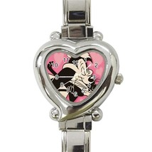 NEW Pepe Le Pew Custom Heart Italian Charm Watch - $15.00