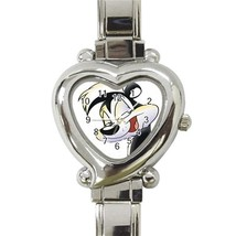 NEW Pepe Le Pew Custom Heart Italian Charm Watch-02 - $15.00