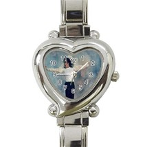 Michael Jackson Custom Heart Italian Charm Watch-02 - $15.00