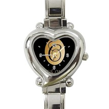 NEW Beauticontrol Logo Custom Heart Italian Charm Watch - $15.00