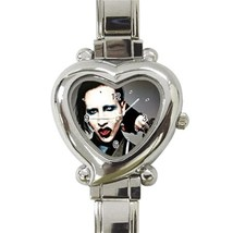 NEW Marilyn Manson Custom Heart Italian Charm Watch - $15.00