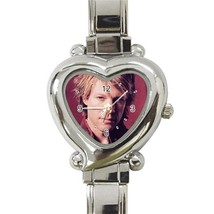 Bon Jovi Photo Custom Heart Italian Charm Watch - $15.00