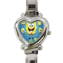 NEW Spongebob Custom Heart Italian Charm Watch - $15.00