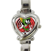 NEW Marvin The Martian Custom Heart Italian Charm Watch - $15.00