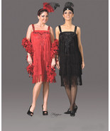 QUALITY WOMEN'S 1920'S RED FRINGED FLAPPER COSTUME MD - $225.00