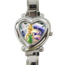 NEW Tinkerbell Custom Heart Italian Charm Watch-02 - $15.00
