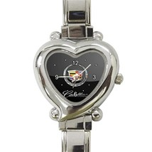 NEW Cadillac Car Logo Custom Heart Italian Charm Watch-02 - $15.00