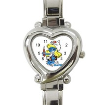 Nurse Smurf Custom Heart Italian Charm Watch - $15.00