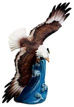 """Atlantic Collectibles Swooping Eagle Over Rising Waves Figurine 13.5"""" Tall Grand - $39.19"""