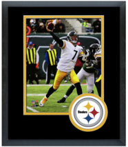 Ben Roethlisberger 2014 Pittsburgh Steelers- 11x14 Team Logo Matted/Framed Photo - $43.55
