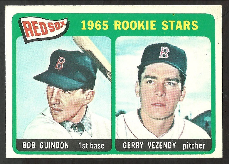 1965 Topps # 509 Boston Red Sox Rookie Stars Bob Guindon Gerry Vezendy em
