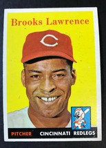 1958 Topps #374 Brooks Lawrence Cincinnati Redlegs Baseball Card - $3.91