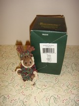 Boyds Bearstone Manheim The Moose With Wreath Ornament - $15.99