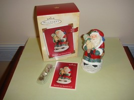 Hallmark 2004 Sittin' On Santa's Lap Record Voice Ornament - $10.99