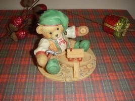 Cherished Teddies Yule Building A Sturdy Friendship Elf Building Boat 14... - $10.79