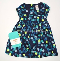 Gymboree Happy Bluebird 12-18 mo Blue Dot Pleated Dress with Tights Wint... - $28.89