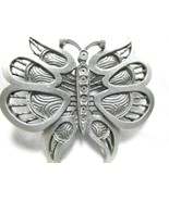 Pewter Butterfly Brooch Pin Signed: J Dylan Inc - $12.81
