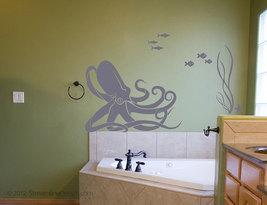 Octopus and Fish Underwater Scene - Wall Art - $18.95