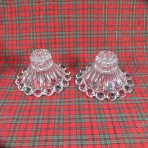 Lot of 2 Vintage Anchor Hocking Berwick Boopie Bubbles Candle Holders - $9.49