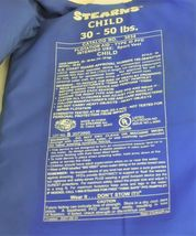 Stearns Child Sport Vest Size 30 to 50 Pounds Flotation Aid Type III PFD image 4
