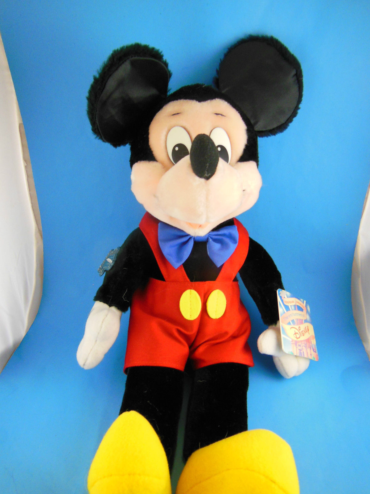 "Vintage Korea Mickey Mouse Doll Disney Applause 17"" inc ears Velvetty fabric MWT image 1"