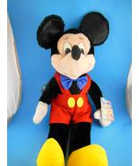 "Vintage Korea Mickey Mouse Doll Disney Applause 17"" inc ears Velvetty fa... - $24.53"