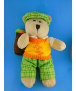 "10"" Starbucks Bearista Bear GOLFER plush Teddy Bear 50th Edition 2006 golf - $9.68"