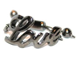Ladies Womens Adjustable Hematite Plated Metal Love Handwriting Blessing... - $5.97
