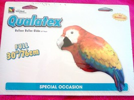 NEW - FULL OF COLOR- PARROT MYLAR BALLOON - QUALATEX - 30 INCHES - €8,73 EUR
