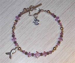 .925 Sterling Silver Animal Abuse Awareness Bracelet w/ SWAROVSKI ELEMENTS - $49.99