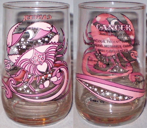 Cancer Zodiac Glass
