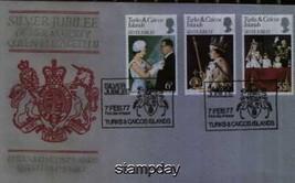 TURKS & CAICOS 1977 SILVER JUBILEE FDC   728MK - $4.95