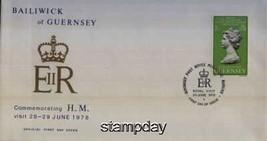 GUERNSEY 1978 ROYAL VISIT FDC JUBILEE 739MK - $4.95