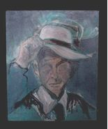 VINTAGE Portrait Painting of Gentleman in Blue - $9.99
