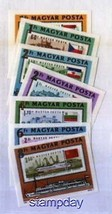 HUNGARY 1981 2705-11 IMPERF STAMP ON STAMP EUROPA SHIPS 2084X - $23.76