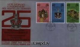NEW HEBRIDES 1977 SILVER JUBILEE 2 FDC 704MK - $6.93