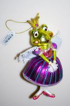 Royal Frog Princess Christmas Ornament, Blown Glass - $19.95