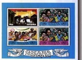 GHANA 1976 IMPERF S/S X-MAS RELIGION MNH 1350MK - $4.95