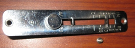 Necchi Mira BU Stitch Length Lever Cover w/Mounting Screws Great Shape - $10.00