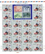 MALAYSIA 2012 UNIFORMS UPU STAMP ON STAMP 3 SHEETS BIKE MOTORBIKE 15664-10 - ₨3,480.86 INR
