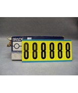 "Brady #8 3450 Series Repositionable labels 3450-8 34508 numbers 3"" H Lot... - $90.18"