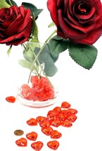 Valentines Day 120pcs RED Acrylic Hearts Scatter Table Vase Decor Weddin... - $9.89