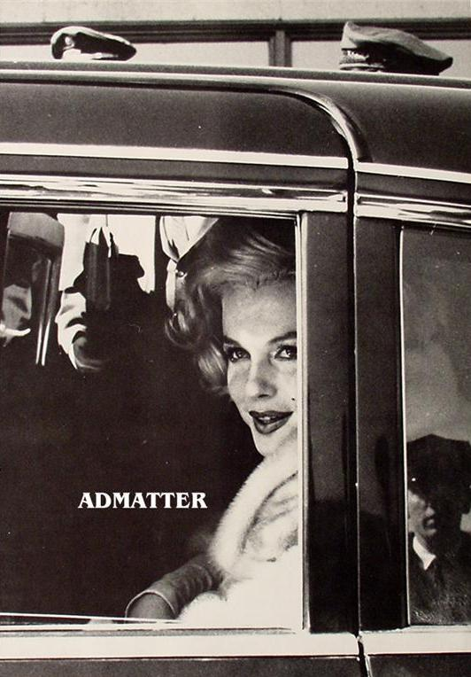Marilyn Monroe Candid Photo Looking out Car Window