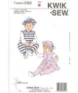 Kwik Sew Pattern 2355  Baby Jumper, Jumpsuit, Leggings & Hat - $10.00