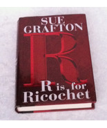 HC book R is for Ricochet by Sue Grafton mystery thriller with dust jacket - $2.00