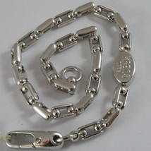 MASSIVE SOLID 18K WHITE GOLD KREOS BRACELET WITH OVAL BALLS MESH, MADE IN ITALY
