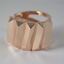 ROSE GOLD PLATED BRONZE REBECCA RING SAHARA BSAARB01 MADE IN ITALY ADJUSTABLE